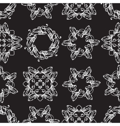 seamless pattern with white decoratove round line vector image