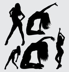 sexy and sensual girl silhouette vector image