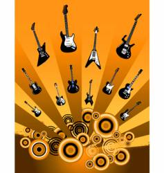 Shooting guitars vector