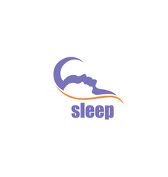 sleep logo vector image