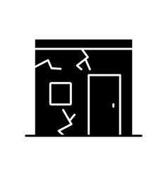 Slums black glyph icon vector