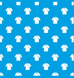 soccer shirt pattern seamless blue vector image