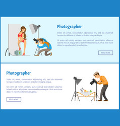 Studio and still life photographers web banners vector