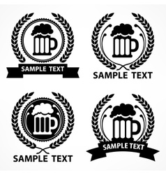 Stylized mug of beer wreath vector image