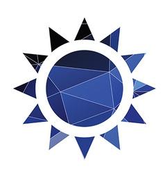 Sun icon Abstract Triangle vector