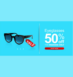 sunglasses on pastel color background discount vector image