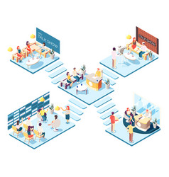 Talk show isometric composition vector