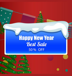 Template design christmas banner happy new year vector