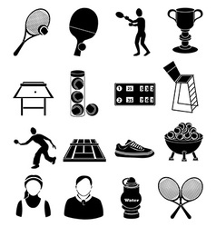 Tennis icons set vector image vector image