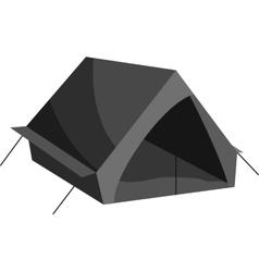 Tourist tent icon black monochrome style vector image