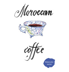 traditional moroccan coffee vector image