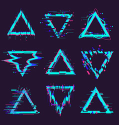triangle glitch frames distortion geometry noise vector image