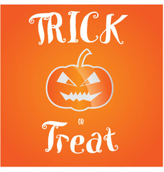 trick or treat halloween greeting card vector image