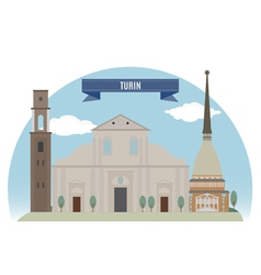 Turin vector image