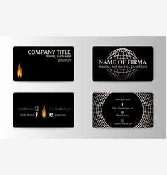 unique business card vector image