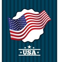 usa emblem design vector image