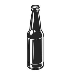 Vintage glass beer bottle template vector