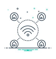 Wifi home vector