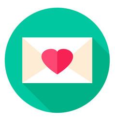 love envelope circle icon vector image