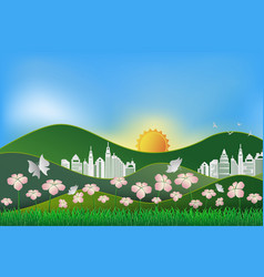 save the earth and world environment day vector image
