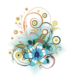 abstract flower with circles vector image vector image