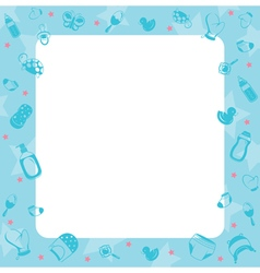 Baby Icons Objects Border vector image