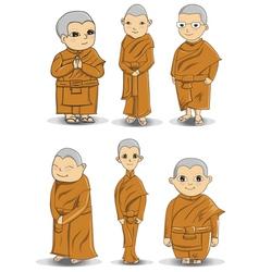 Buddihist nun vector image vector image
