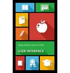 Colorful back to school user interface mobile app vector image vector image