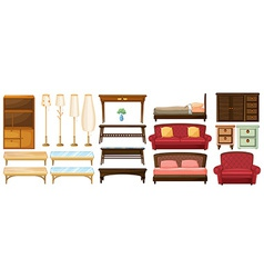 Different furnitures vector image vector image