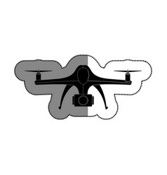 drone technology flying isolated icon vector image