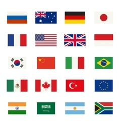 Flags icons vector image vector image