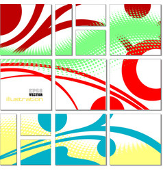 Geometrical mosaic abstract pattern vector