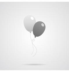 Gray Balloons Flat Icon vector image vector image