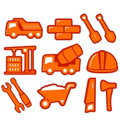set industrial tools isolated icons vector image vector image