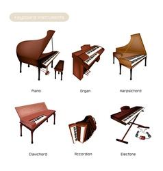 Six Keyboard Instrument vector image vector image