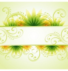 Spring summer background vector image