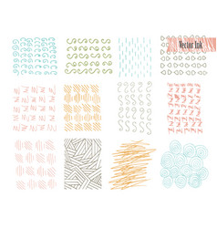 hand drawn hipster textures made with ink retro vector image vector image