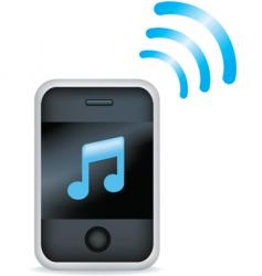 phone music vector image vector image
