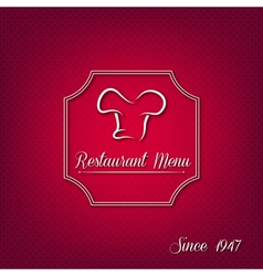 Abstract restaurant menu cover vector image vector image
