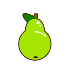 fresh pear icon green pear vector image vector image