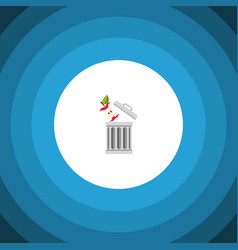 Isolated trash flat icon bin element can vector