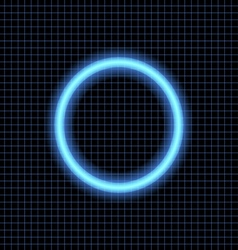 Neon circle on a dark background vector image vector image