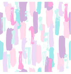 Pastel color paint brush strokes vector