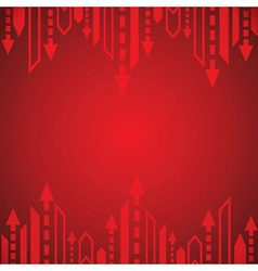 Red arrow background vector image