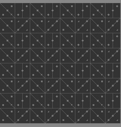 seamless lines in form of angle squares dark vector image vector image