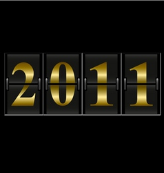 2011 new year counter vector image