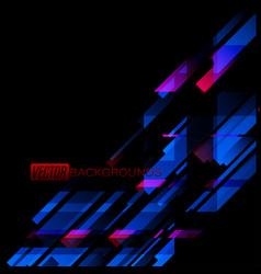 Abstract geometric dark and blue scene vector