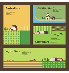 Agriculture banners vector