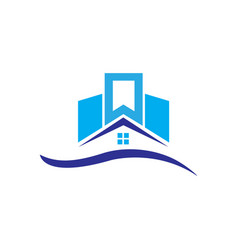 Apartment house real estate logo vector