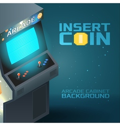 Arcade Game Machine Over Retro Vector Images (over 170)